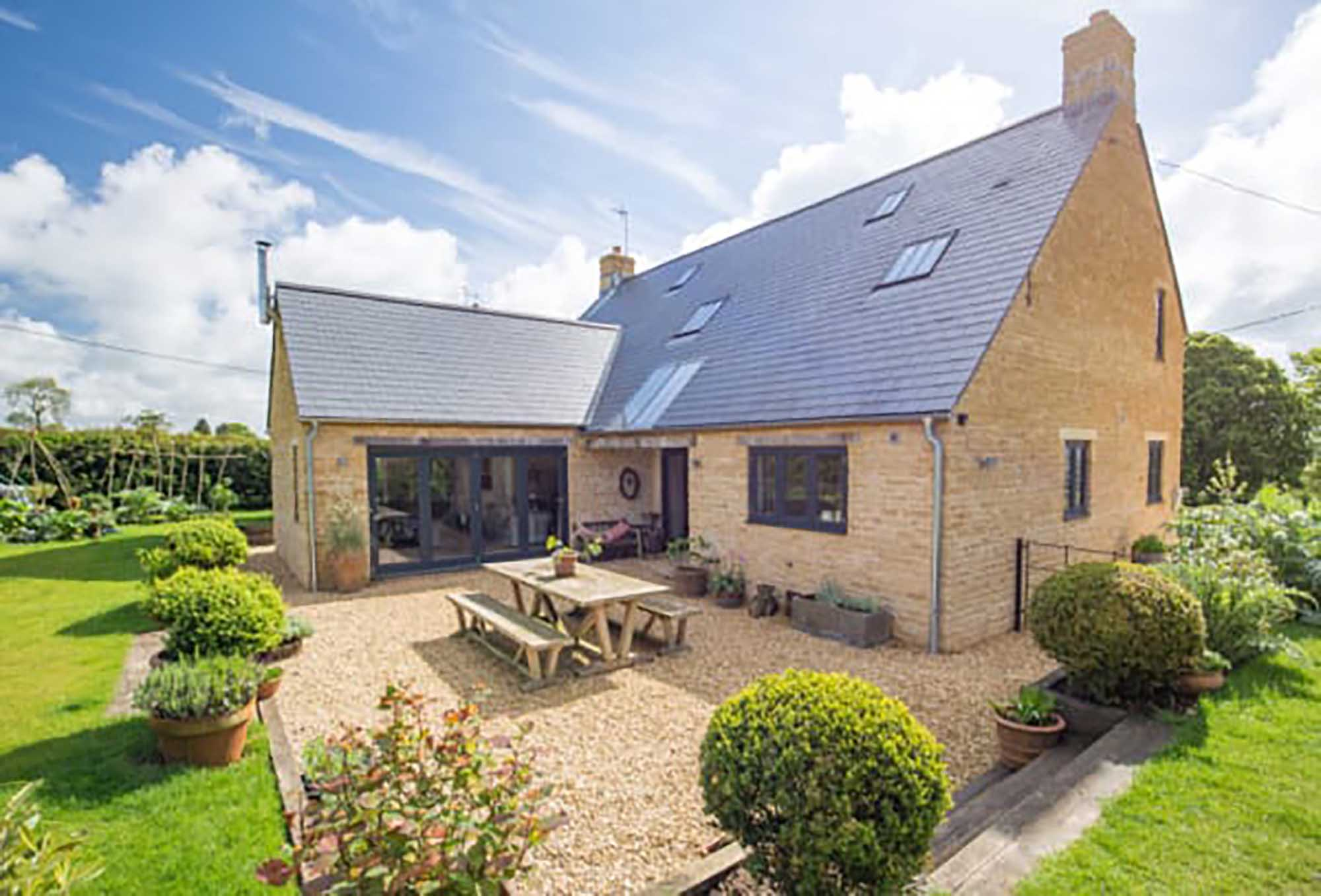 An attractive energy efficient house with lovely views in the desirable village of Upton Noble.
